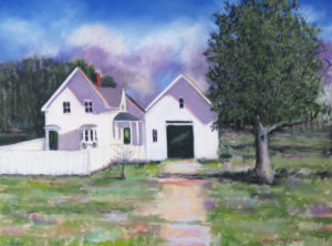 Robert Frost, Robert Frost Farm, pastel, pastel painting