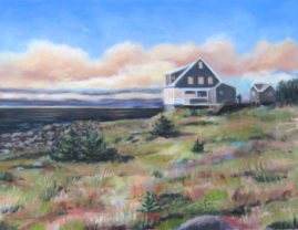 Jamie Wyeth House, Monhegan, Me  11x14 Available