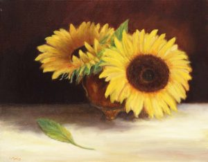 Sunflower, draw and paint