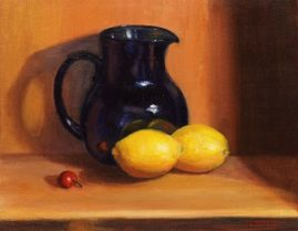 Blue Pitcher with Lemons 11x14 Oil Available