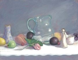 Grandmother's Table11x14 Pastel Available