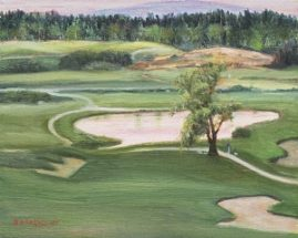 Merrimack Valley Golf Course 8x10 Oil Plein Air