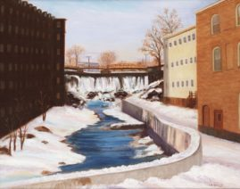 Spiggot Falls in Winter 16x20 Available