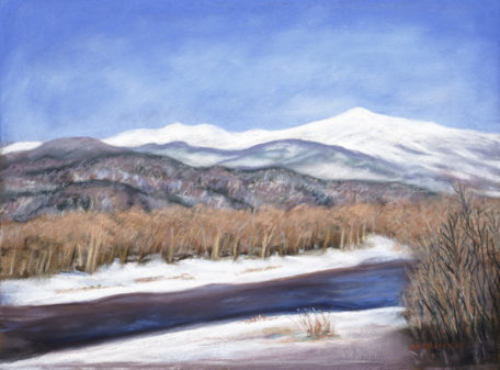 Winter in The White Mountains  12x16 pastel