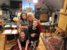 Keira, Maeve and Juliana at Harp Studio