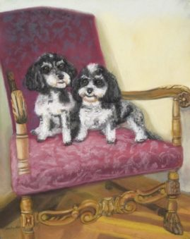 Ori and  Sophia 11x14v Pastel Collection Carol Blanchard, D.D.S.