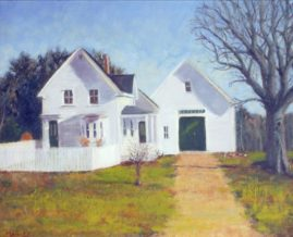 Robert Frost Farm in Winter  -Oil on Linen - Sold