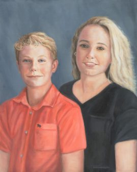 Kayla and Austin  16x20 Oil on Linen Collection of Mrs. Celia Atkinson