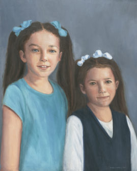 Reese and Sloane  16x20  Oil on Linen Collection of Mrs. Celia Atkinson