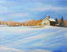 All American Farm by Sharon A. Morley  Oil on Canvas  11x14
