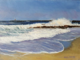 Salisbury Beach State Reservation 6 x 8 Oil on Board