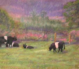 Camden Cows - Collection of Carol Blanchard 16x20 Pastel