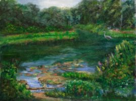 Phillips Academy Bird Sanctuary xxx14 Plein air Painting Collection of Paul Boyer, owner, Get in shape for Women