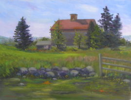 Merrill Farm in Summer Collection of Janice Anton-Plein Air painting 11x14